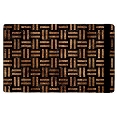 Woven1 Black Marble & Brown Stone Apple Ipad 2 Flip Case by trendistuff