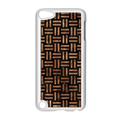 Woven1 Black Marble & Brown Stone Apple Ipod Touch 5 Case (white) by trendistuff