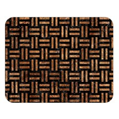 Woven1 Black Marble & Brown Stone Double Sided Flano Blanket (large) by trendistuff