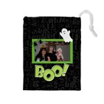 Halloween Spooks - Drawstring Pouch (Large)