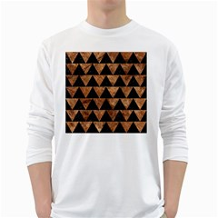 Triangle2 Black Marble & Brown Stone Long Sleeve T Shirt by trendistuff