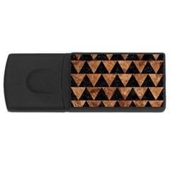Triangle2 Black Marble & Brown Stone Usb Flash Drive Rectangular (4 Gb) by trendistuff