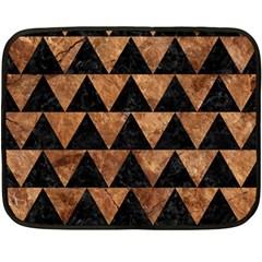 Triangle2 Black Marble & Brown Stone Fleece Blanket (mini) by trendistuff