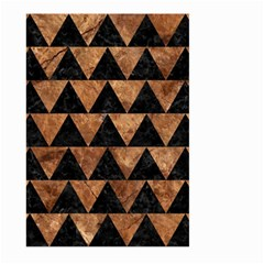 Triangle2 Black Marble & Brown Stone Large Garden Flag (two Sides) by trendistuff