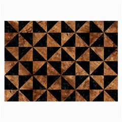 Triangle1 Black Marble & Brown Stone Large Glasses Cloth by trendistuff