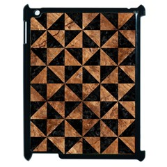 Triangle1 Black Marble & Brown Stone Apple Ipad 2 Case (black) by trendistuff
