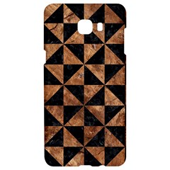 Triangle1 Black Marble & Brown Stone Samsung C9 Pro Hardshell Case  by trendistuff