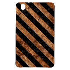 Stripes3 Black Marble & Brown Stone (r) Samsung Galaxy Tab Pro 8 4 Hardshell Case by trendistuff
