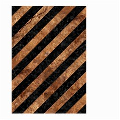 Stripes3 Black Marble & Brown Stone Small Garden Flag (two Sides) by trendistuff