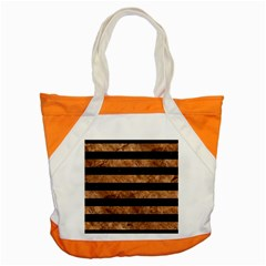 Stripes2 Black Marble & Brown Stone Accent Tote Bag by trendistuff