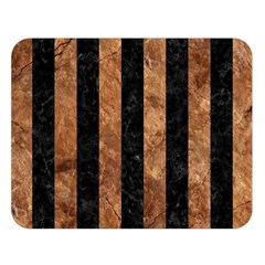 Stripes1 Black Marble & Brown Stone Double Sided Flano Blanket (large) by trendistuff