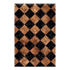 Square2 Black Marble & Brown Stone Shower Curtain 48  X 72  (small) by trendistuff