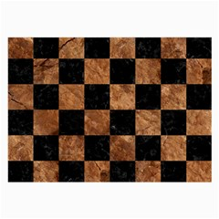 Square1 Black Marble & Brown Stone Large Glasses Cloth by trendistuff