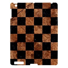 Square1 Black Marble & Brown Stone Apple Ipad 3/4 Hardshell Case by trendistuff