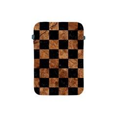 Square1 Black Marble & Brown Stone Apple Ipad Mini Protective Soft Case by trendistuff