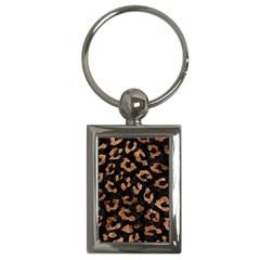 Skin5 Black Marble & Brown Stone (r) Key Chain (rectangle) by trendistuff
