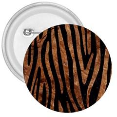 Skin4 Black Marble & Brown Stone (r) 3  Button by trendistuff