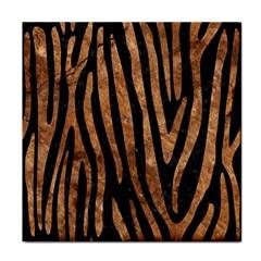 Skin4 Black Marble & Brown Stone (r) Face Towel by trendistuff