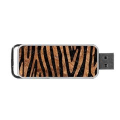 Skin4 Black Marble & Brown Stone (r) Portable Usb Flash (two Sides) by trendistuff