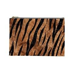 Skin3 Black Marble & Brown Stone (r) Cosmetic Bag (large) by trendistuff