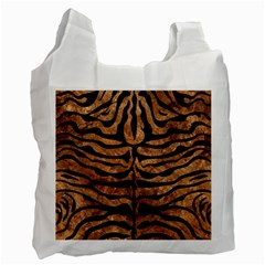 Skin2 Black Marble & Brown Stone (r) Recycle Bag (two Side) by trendistuff
