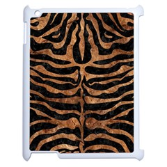 Skin2 Black Marble & Brown Stone Apple Ipad 2 Case (white) by trendistuff