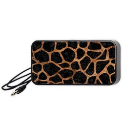 Skin1 Black Marble & Brown Stone (r) Portable Speaker (black) by trendistuff