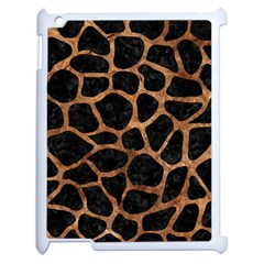 Skin1 Black Marble & Brown Stone (r) Apple Ipad 2 Case (white) by trendistuff