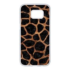 Skin1 Black Marble & Brown Stone (r) Samsung Galaxy S7 Edge White Seamless Case by trendistuff