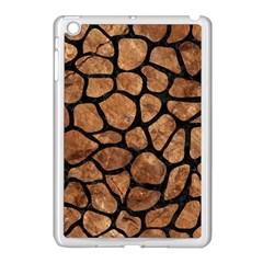 Skin1 Black Marble & Brown Stone Apple Ipad Mini Case (white) by trendistuff