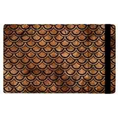 Scales2 Black Marble & Brown Stone (r) Apple Ipad 2 Flip Case by trendistuff