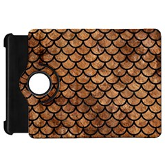 Scales1 Black Marble & Brown Stone (r) Kindle Fire Hd Flip 360 Case by trendistuff