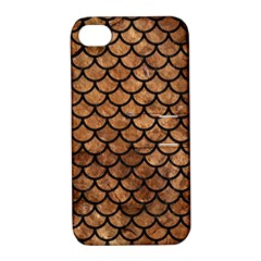 Scales1 Black Marble & Brown Stone (r) Apple Iphone 4/4s Hardshell Case With Stand by trendistuff