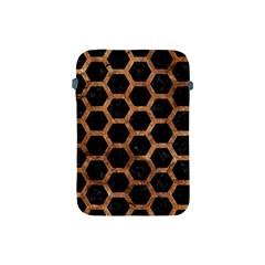 Hexagon2 Black Marble & Brown Stone Apple Ipad Mini Protective Soft Case by trendistuff