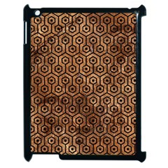 Hexagon1 Black Marble & Brown Stone (r) Apple Ipad 2 Case (black) by trendistuff