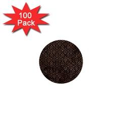 Hexagon1 Black Marble & Brown Stone 1  Mini Button (100 Pack)  by trendistuff