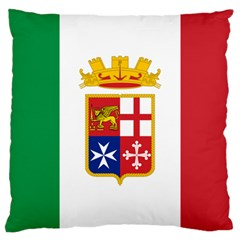 Naval Ensign Of Italy Large Cushion Case (two Sides) by abbeyz71