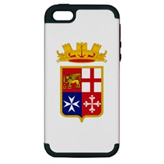 Naval Ensign Of Italy Apple Iphone 5 Hardshell Case (pc+silicone) by abbeyz71