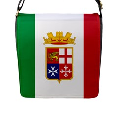 Naval Ensign Of Italy Flap Messenger Bag (l)  by abbeyz71