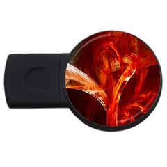 Red Abstract Pattern Texture Usb Flash Drive Round (2 Gb) by Nexatart