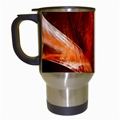 Red Abstract Pattern Texture Travel Mugs (white) by Nexatart