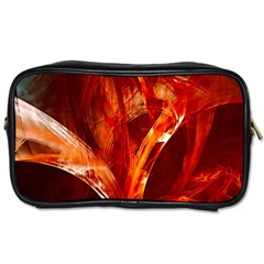 Red Abstract Pattern Texture Toiletries Bags by Nexatart