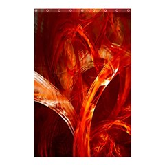 Red Abstract Pattern Texture Shower Curtain 48  X 72  (small)  by Nexatart