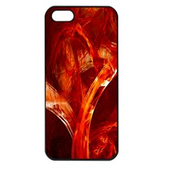 Red Abstract Pattern Texture Apple Iphone 5 Seamless Case (black) by Nexatart