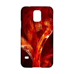 Red Abstract Pattern Texture Samsung Galaxy S5 Hardshell Case  by Nexatart