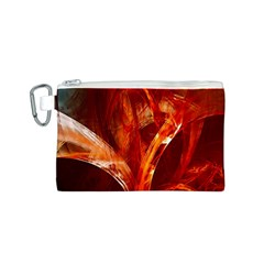 Red Abstract Pattern Texture Canvas Cosmetic Bag (s) by Nexatart