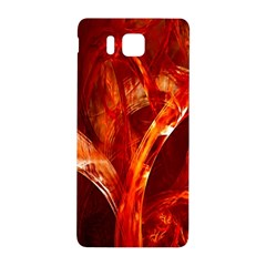 Red Abstract Pattern Texture Samsung Galaxy Alpha Hardshell Back Case by Nexatart