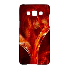 Red Abstract Pattern Texture Samsung Galaxy A5 Hardshell Case  by Nexatart