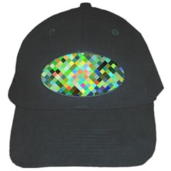 Pixel Pattern A Completely Seamless Background Design Black Cap by Nexatart