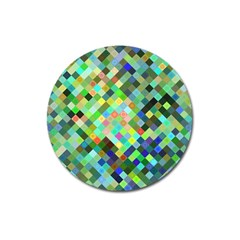 Pixel Pattern A Completely Seamless Background Design Magnet 3  (round) by Nexatart